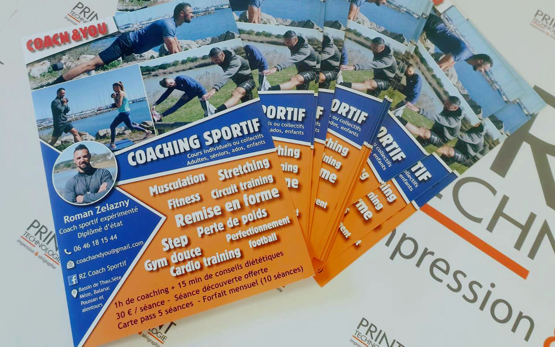 impression flyers coach you a montpellier